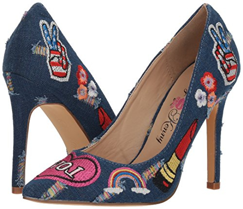 Penny Loves Kenny Women's Mixed Pump, Blue Denim, 8.5 Wide US by Penny Loves Kenny (Image #6)