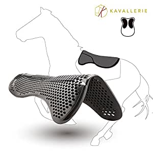 Kavallerie Gel Half Pad/ Saddle Pad - Prevent Saddle Bridging or Sore Back - Breathable & Washable - Perfect for Eventing, Schooling, Dressage, Jumping, Training - Front Riser