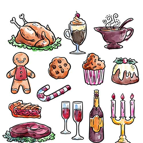 Lessonmart 2018 Christmas Stamp and Cutting Dies Party Food Cane Gingerbread Man Stamps Die Cut Scrapbooking DIY Card Craft Deco