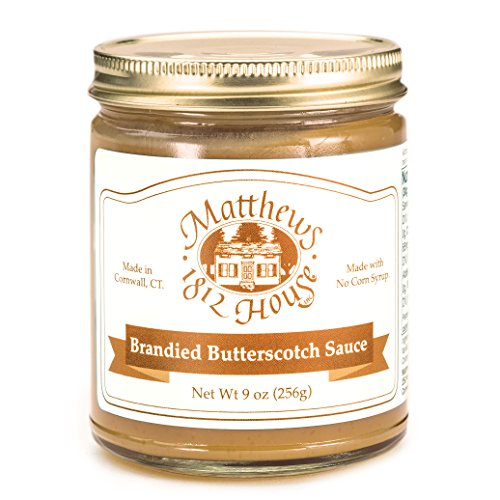 Matthews 1812 House Brandied Butterscotch Sauce 10 oz by Matthews 1812 House