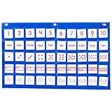 Didax DD-211773 Number Path Pocket Chart with Cards, Grade: 7 to kindergarten (Pack of 51)