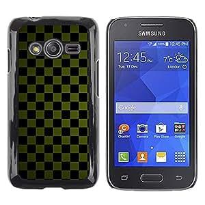 TopCaseStore / la caja del caucho duro de la cubierta de protección de la piel - Texture Checkered Green - Samsung Galaxy Ace 4 G313 SM-G313F