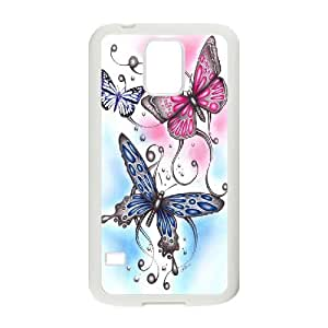 High Quality Phone Back Case Pattern Design 14Colorful Butterfly- For Samsung Galaxy S5