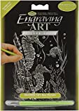 Royal Brush Mini Silver Foil Engraving Art Kit, 5 by 7-Inch, Sea Horses