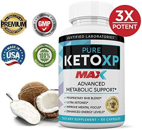 Pure Keto XP Max 1200MG Keto Pills Advanced Ketogenic Supplement Real Exogenous Ketones Ketosis for Men Women 60 Capsules 1 Bottle 3