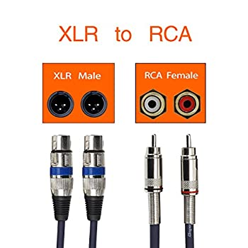 Tisino Dual Female Xlr To Rca Cable, 2 Xlr To 2 Rcaphono Plug Hifi Stereo Audio Connection Microphone Cable Wire Cord - 5 Feet1.5m 5