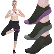 Yoga Socks for Women Non Skid Socks with Grips Barre Socks Pilates Socks for Women