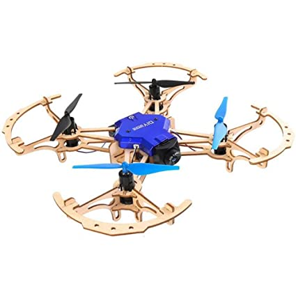 Lhcar Mini Drone RC Drone Quad Copter Madera de Bricolaje montado ...
