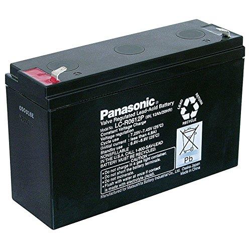 Bleiakku Panasonic Industrial LC-R0612P für USV Anlagen, Notbeleuchtung, Alarmanlagen - VDS-zugelassen - PB 6V 12000mAh - Akku-King
