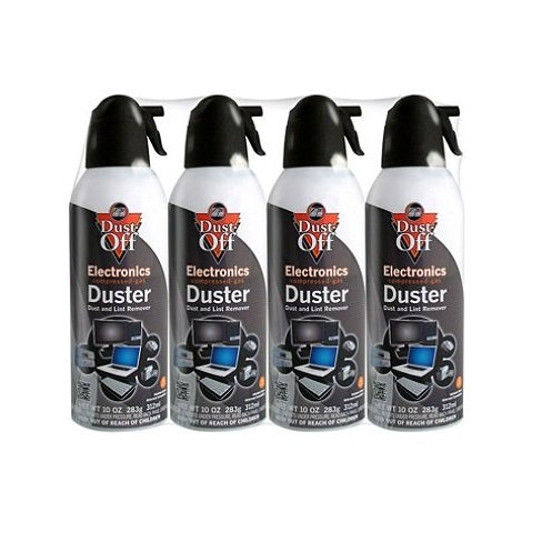 2 X Dust-Off Compressed Gas Duster - 4 Pack - DPSXL4 by Falcon