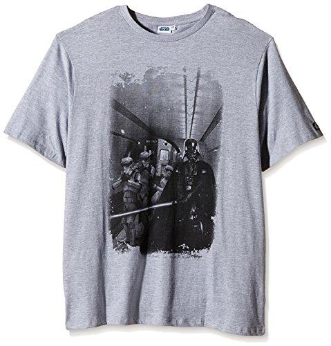 Star Wars - T- shirt con motivo di Darth Vader e Stormtrooper Metro Gang - Con logo di Star Wars - Grigio