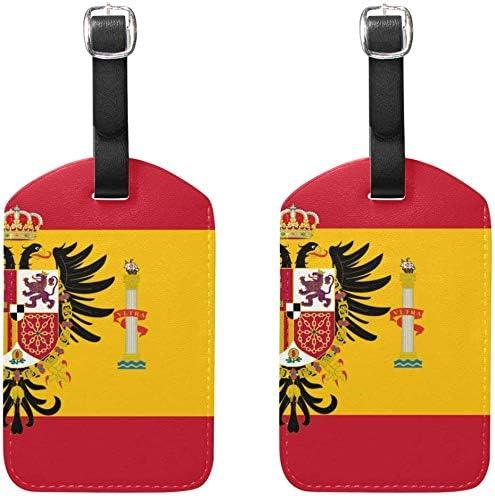 Etiquetas de Equipaje Bandera española Bolso de Mujer Etiquetas de Maleta Accesorios de Viaje para Titular Juego de 2: Amazon.es: Equipaje