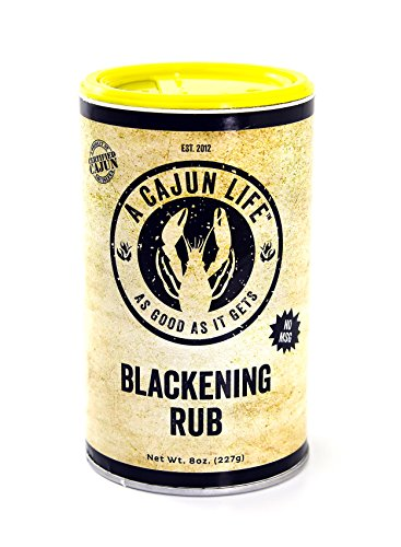 A Cajun Life Blackening Seasoning | Authentic Certified Cajun Blackening Rub, Non-GMO, No MSG, Gluten Free Cajun Blackened Seasoning That's Great On - Seasoning Cajun Blackening