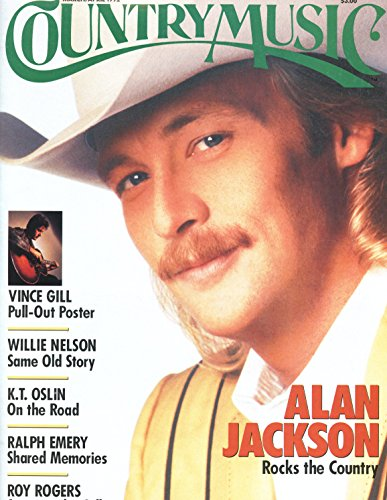 Alan Jackson COVER ONLY original 1pg 8x10 clipping magazine photo #S1002