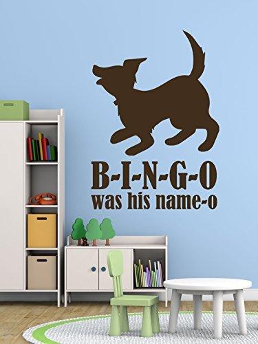 Enid545Anne Nursery Rhyme Wall Decals - B-I-N-G-O - Bingo Song, Nursery Wall Decor, Playroom Decor, Vinyl Wall Decals for the Playroom, Preschool, and Baby Nursery Wall Decals