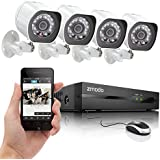 Zmodo SPoE Security System -- 4 Channel NVR & 4 x 720p IP Cameras with No Hard Drive