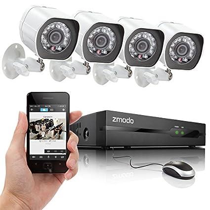 Zmodo ZP-KE1H04-S NVR sPoE Security System with 4 HD: Amazon