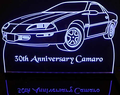 - ValleyDesignsND 1997 Camaro 30th Anniversary Acrylic Lighted Edge Lit 12