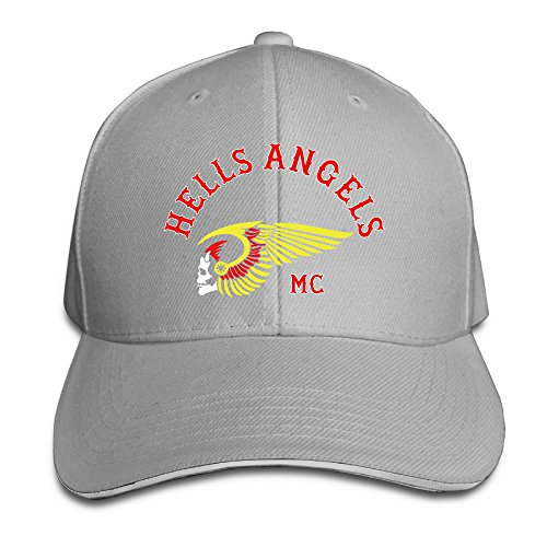 The Hells Angels Motorcycle Club Sandwich Baseball Caps Ash