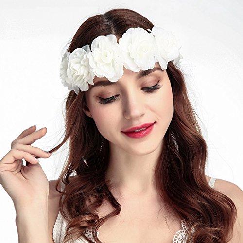 Boda playa Acmede de vacaciones 1 para Corona para de Flores colores el cabello Floral Diadema 2 Estilo 558HqrwP