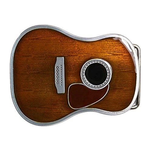 Landisun Handmade Earthy Yellow Guitar Belt Buckle - Handmade Buckle