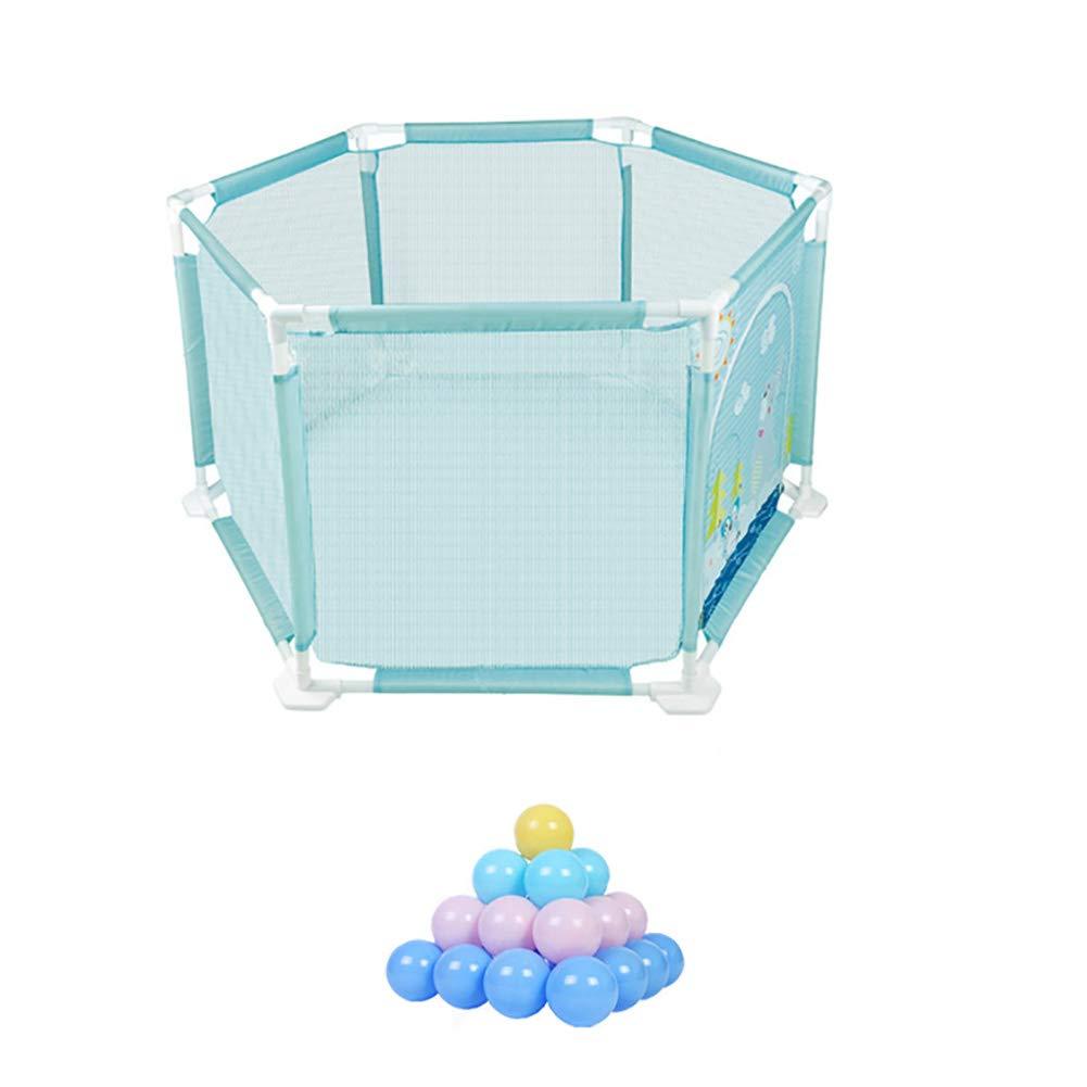 大型Playpensセーフティゲームフェンス、子供赤ちゃん耐破壊フェンスの遊び場屋内屋外ポータブル折りたたみ劇場 (サイズ さいず : 20 balls) 20 balls  B07KN24FRS