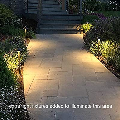 "MarsLG BRS1 ETL-Listed Solid Brass Low Voltage Landscape Accent Path and Area Light with 6.5"" Shade and 18"" Stem in Antique Brass Finish, Ground Spike and Free G4 LED Bulb, 36PL01BS-P"