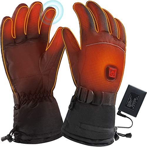 JS LifeTaste Heated Gloves, Heated Gloves for Women,Heated Gloves Men,Rechargeable with Battery Pack, Heated Work&Motorcycle Gloves, Up to 9 Hours Battery Life