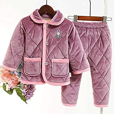 MQC Traje Pijamas Espesado Polar de Coral niños y niñas de la ...
