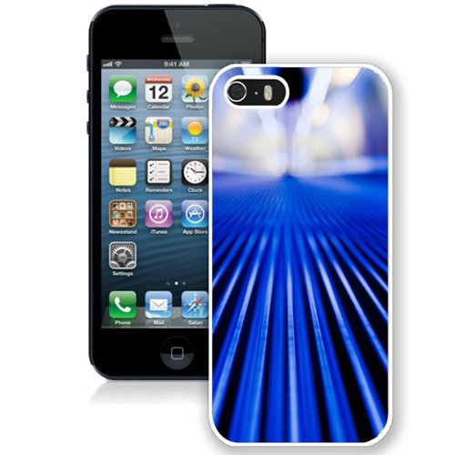 Coque,Fashion Coque iphone 5S Abstract Blue Stripes blanc Screen Cover Case Cover Fashion and Hot Sale Design