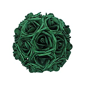 50pcs Artificial Flower,Real Touch Artificial Foam Roses Decoration DIY Wedding Bridesmaid Bridal Bouquet Centerpieces Party 3