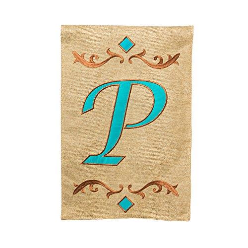 (Evergreen Flag 14B3410P Monogram Letter P Garden Flag, 12.5