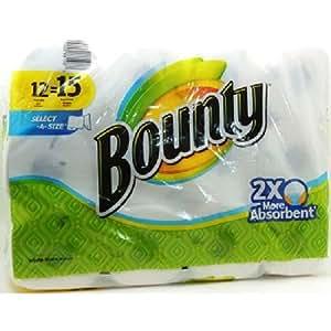 Bounty rollo de papel toalla (12 en un paquete)