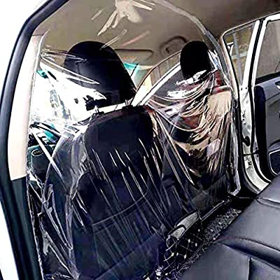 Car Taxi Isolation Film Plastic Anti-Fog Dust Anti-Droplet Full Surround Protective Cover Front and Rear, Automotive Protective Shields Easy to Install for Driver and Passenger Protection: GPS & Navigation
