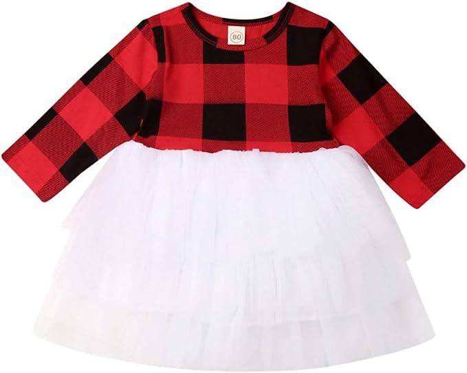 Amazon.com: Vestido de tutú con diseño de dulces de Navidad ...