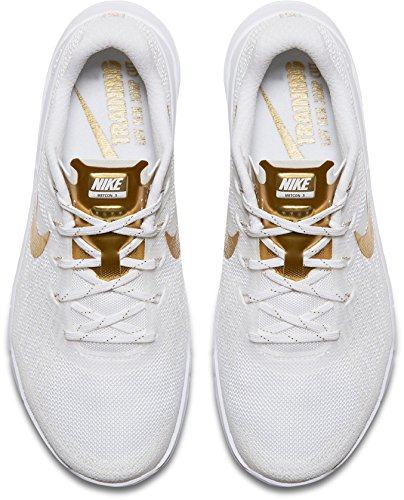AMP Gold Shoes Metcon White US Nike 3 Training Women's qt1B1