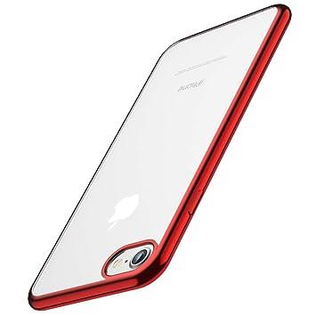 Funda iPhone 6, Funda iPhone 6S, Joyguard Funda para iPhone 6/6S Transparente Cristal Silicona Suave Delgado Flexible TPU con Parachoques de Efecto ...