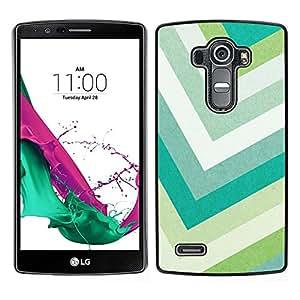 LECELL--Funda protectora / Cubierta / Piel For LG G4 -- Líneas Verde Pastel de Verano --
