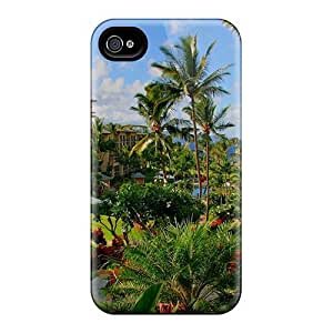 For Apple Iphone 4/4S Case Cover Eco-friendly Packaging(beautiful Hawaii)