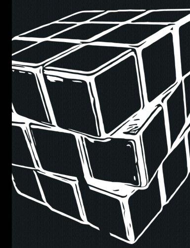 Black Puzzle Cube Half Centimeter Graph Composition Book: 200 Pages, 0.5cm Square Graph Paper, School Exercise Book