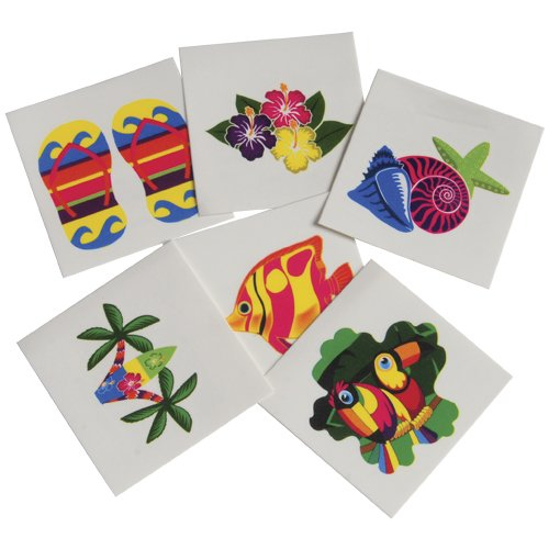 DollarItemDirect Luau Temporary Tattoos , Sold by 15 GROSSES by DollarItemDirect (Image #1)