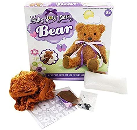 Build Your Own Teddy Bear Toy Kids Craft Set Childrens Christmas Grafix sew
