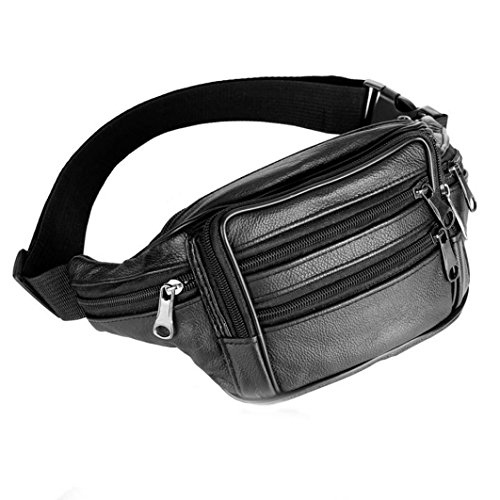 InKach Fanny Pack - Fashion Mens Leather Waist Pouch Bags Messenger Shoulder Chest Bumbag Hip Purse