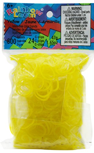 Rainbow Loom Jelly Rubber Bands Childrens Jewelry Making Kits, Yellow