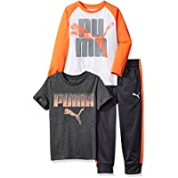 PUMA Little Boys' Three Piece T-Shirt and Pant Set