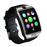 Smart Watch,Anti-Lost Touch Screen Bluetooth SmartWatch,Health Tracking,Pedometer Analysis, Sedentary Reminder, Sleep Monitoring,Prevent Sweat, TF/SIM Card Slot for Android and iso Phones- Silver