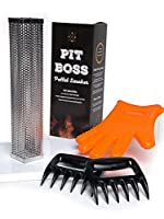 "Ultimate Pit Boss Pellet Tube Smoker Set - 12"" Stainless Steel Pellet Tube Smoker, Food-grade Silicone Grilling Glove, Pair of Meat Claw Shredders - Convert any grill to a smoker - Hot or cold smoking from fabulous Proper Goods"