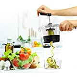 Spiral Vegetable slicer.-PERFECT TWIST KITCHEN USE- The New dessing is More Compact Cinvenient and Fast to clean. A Cutter with Varios Types of Cuts. It Cuts Potatoes, Fruit and others.The Best spiral vegetable cutter