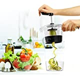 Spiral vegetable slicer. The new Design Spiralizer Is more compact 4 blade spiral vegetable cutter. Perfect Twist - Kitchen Use