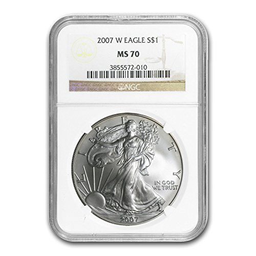 2007 W Burnished Silver American Eagle MS-70 NGC Silver MS-70 NGC